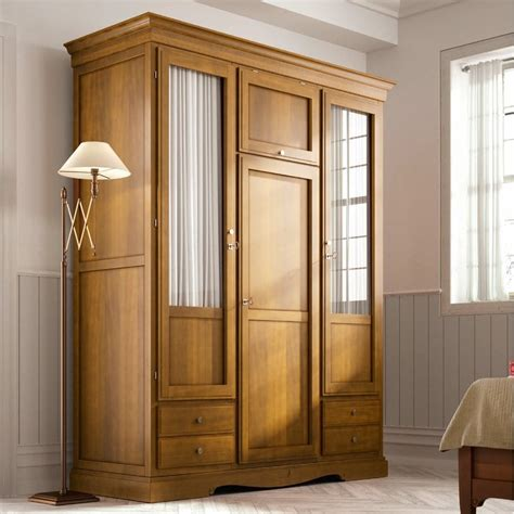 Lemari 3 Pintu Cermin lemari pakaian jati pintu kaca cermin jepara heritage