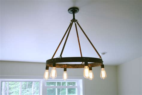 Chandelier Edison Bulbs Custom Bourbon Barrel Ring Chandelier Featuring 6 Edison Bulb By Knot 2 Shabby Custommade