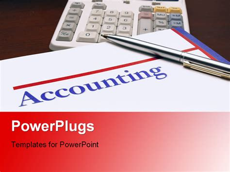 accounting powerpoint templates free accounting book with calculator and pen on desk