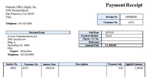 Received Receipt Template by Receipt Of Payment Templates Find Word Templates