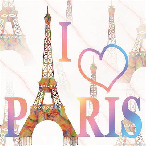 imagenes love paris i love paris mixed media painting by georgeta blanaru