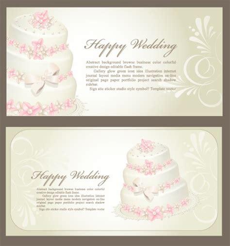 invitation card design vector free download set of wedding invitation cards design vector 04 vector