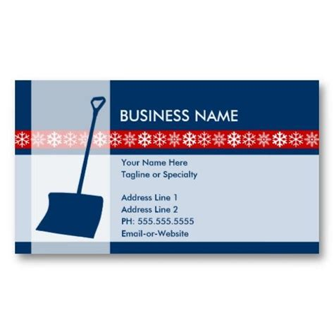snow plow business card templates snow removal business cards image collections business