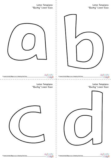 letter templates case quirky lowercase alphabet
