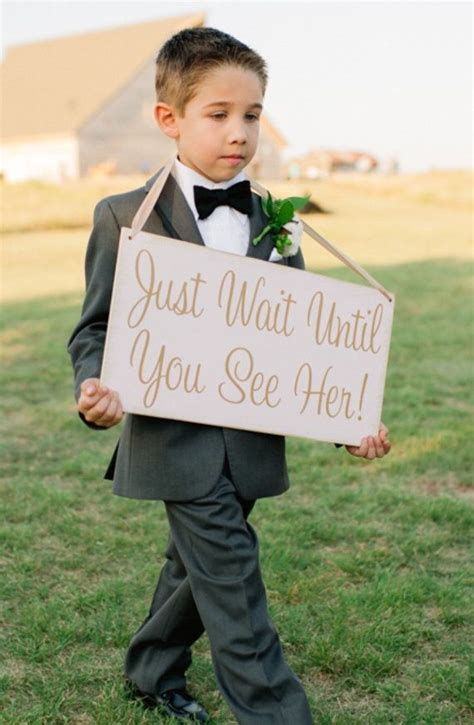 Wedding Banner For Ring Bearer by Best 25 Ring Bearer Signs Ideas On Here Comes