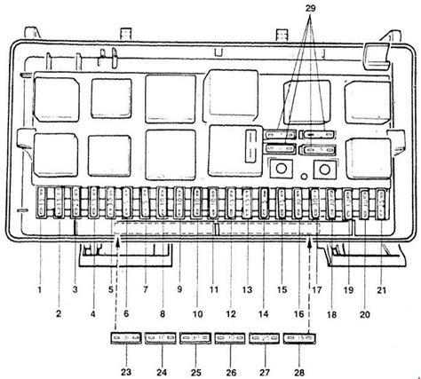 security system 1990 audi 100 engine control audi 100 c3 1989 1991 fuse box diagram auto genius
