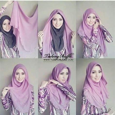 tutorial pashmina ruffle tudung ruffle hijab tutorials pinterest hijabs and