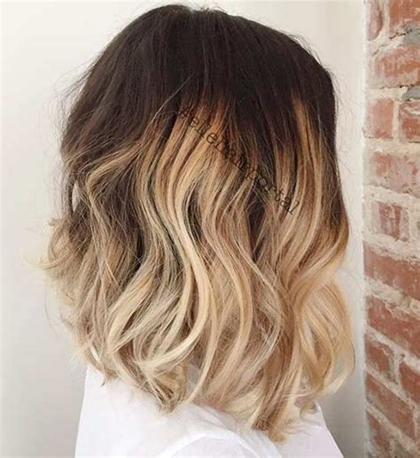 does ombre work with medium layered hair length 31 best shoulder length bob hairstyles shoulder length