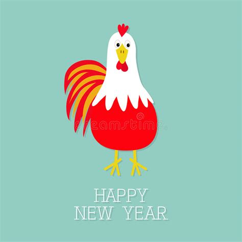 new year character vector rooster bird 2017 happy new year symbol