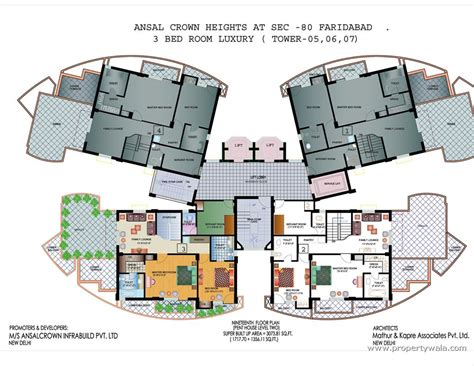 layout of freehold mall ansal crown heights sector 80 faridabad apartment