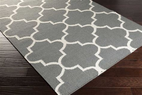 white and gray area rug zipcode design hector gray white
