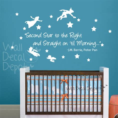Nursery Wall Decal Quotes Pan Wall Decal Lettering Words Quote Wall By Walldecaldepot