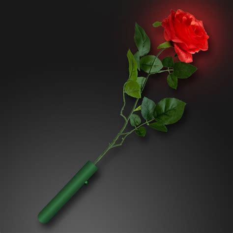 light up red roses flashing panda led light up glowing red rose