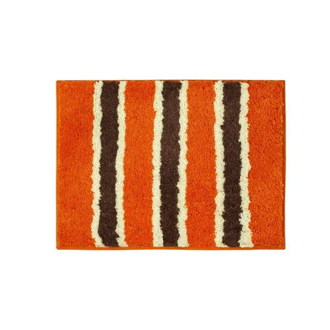 Orange Bathroom Rugs by Bathtopia Ace Orange 16 In X 24 In Bath Rug Ymb002321