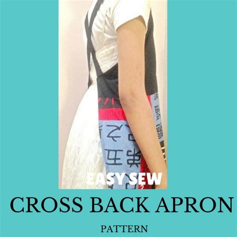 apron sewing guide make easy japanese style cross back apron free diy