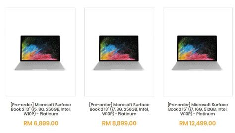 Microsoft Surface Book Malaysia microsoft surface book 2 pre orders for malaysia now open