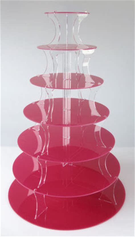 china red acrylic wedding cupcake display stand hj