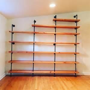 black pipe shelves custom jrebella shelves