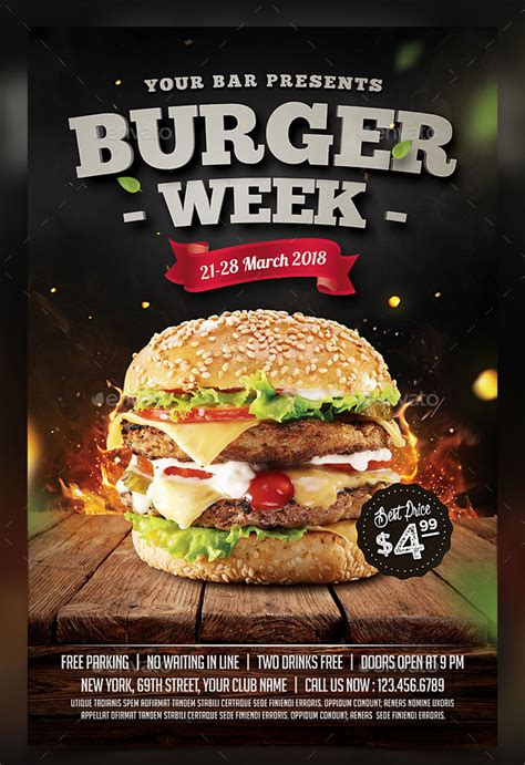 template flyer burger 25 best psd flyer designs 2016 poster idesignow