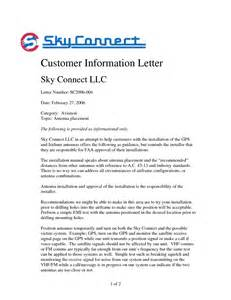 Customer Information Letter Customer Information Letter Sky Connect Llc Letter Number Date By Katiealibrandi