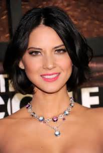 center part bob hairstyle center parted black bob hairstyle with waves olivia munn