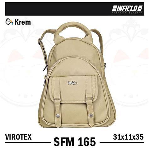 inficlo sfm 165 tas wanita handbag selempang model trendy warna krem bahan virotex ukuran
