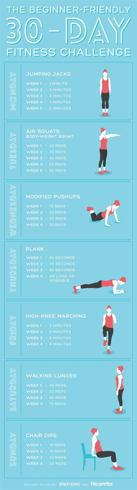workout challenges for beginners 25 best ideas about 30 challenge on 30 day