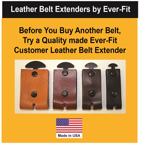 newly patented invention leather waist belt extender by