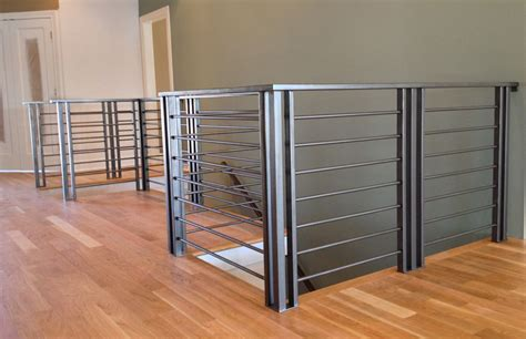 contemporary banisters custom railing fabrication installation for commercial residential