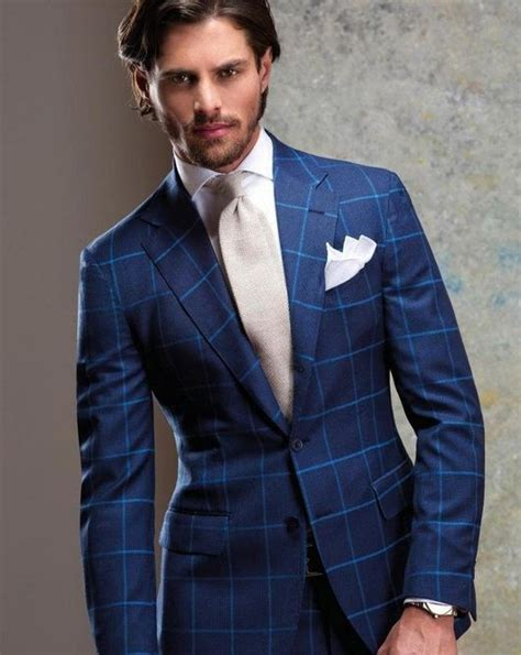 blue pattern suit sartoria rossi bold color and pattern fashion