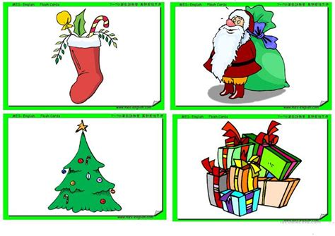 printable christmas flashcards christmas flash cards worksheet free esl printable