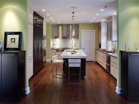 pictures of green kitchens walls modern black and white kitchen hgtv