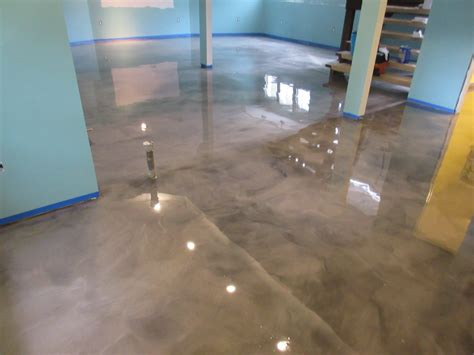 concrete floor coverings basement epoxy basement floor transformation