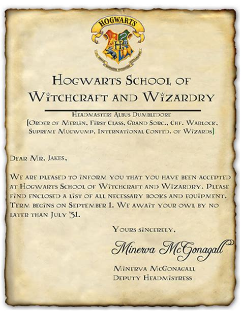 Hogwarts Acceptance Letter Create Your Own My Own Hogwarts Acceptance Letter Flickr Photo