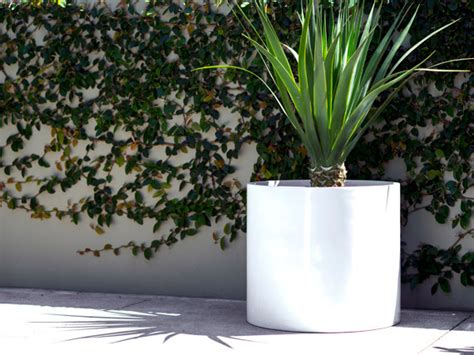 modern pots and planters contemporary lightweight cylinder modern outdoor pots
