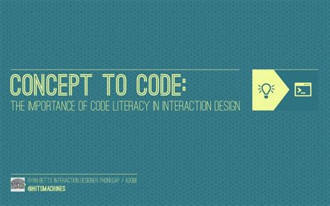 designmantic code concept to code the importance of code literacy in