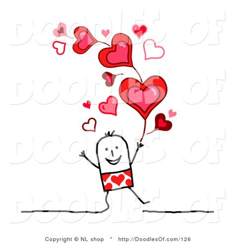 stick figure valentines vector clipart of a stick figure person