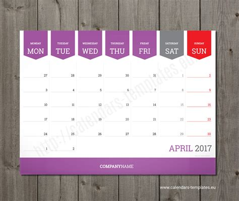 Monthly Calendar 2018 Planner Wall Or Table Pad Planner Template Quarterly Planner Template