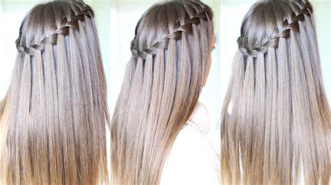 how to do a waterfall braid step by step on shprt hair waterfall braid tutorial for beginners diy waterfall