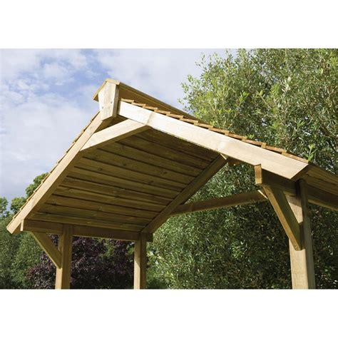 Gazebo Shelter Forest Garden Wooden Gazebo Bbq Shelter Gardener