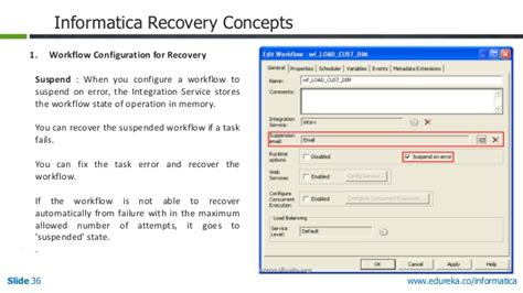 workflow recovery in informatica management in informatica power center