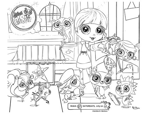 littlest pet shop coloring pages squid army