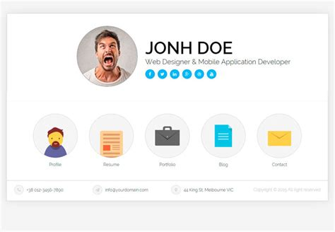 design vcard online 30 best resume cv html templates for personal business