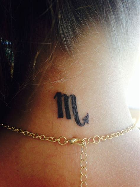 zodiac sign scorpio small tattoo tattoos pinterest