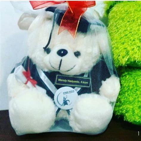 Teddy Kuning Hitam 8199m teddy boneka wisuda stmik ppkia kado wisudaku