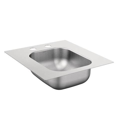 Stainless Steel Prep Sink shop moen 2000 series stainless steel drop in residential