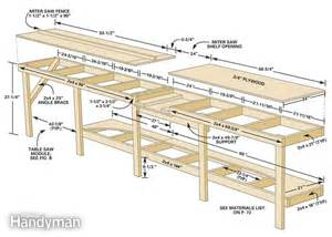 garage workbench design modular workbench the family handyman