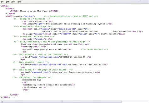 html sle code