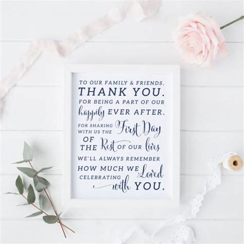 Thank You Card Downloads Printable Navy Wedding Thank You Sign Navy Wedding Thank