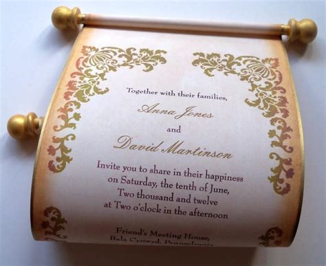 Paper Prince Wedding Invitations by Rustic Wedding Invitation Wedding Invitations Scroll